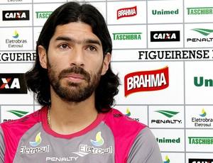 Loco Abreu no treino do Figueirense (Foto: Luiz Henrique / Site Oficial do Figueirense)