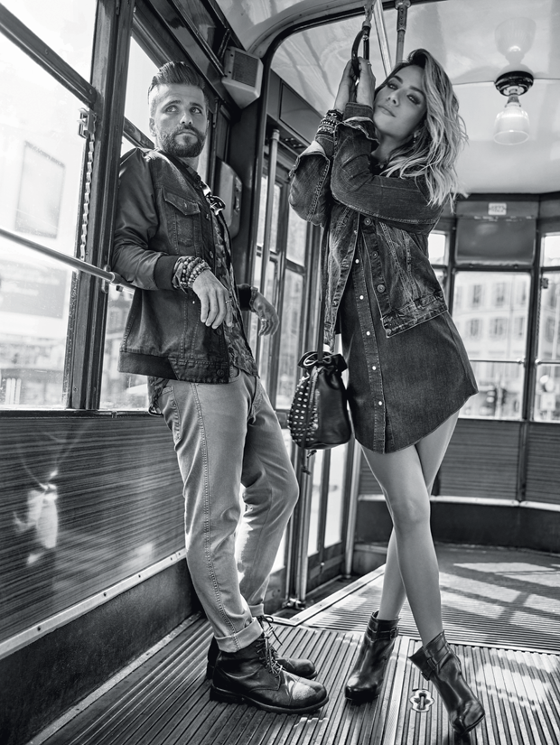 Bruno Gagliasso e Giovanna Ewbank na campanha da Replay para a C&A (Foto: Divulgação/Bob Wolfenson)
