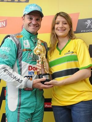 Rubens Barrichello Pole Position Stock Car (Foto: Duda Bairros)