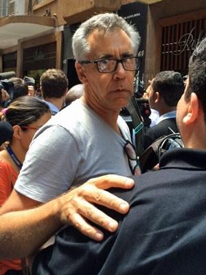 Joalheiro foi mantido refém durante assalto no Centro de SP (Foto: Karina Godoy/G1)