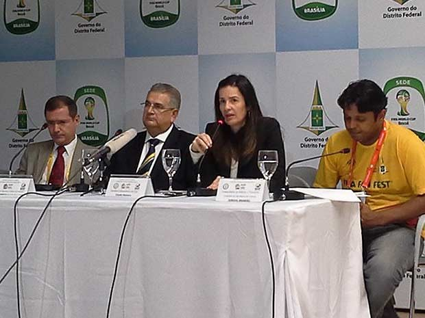 Paulo Roberto Batista de Oliveira, Cláudio Monteiro, Samantha Sallum e Dorival Brandão (Foto: Isabella Formiga/G1 DF)
