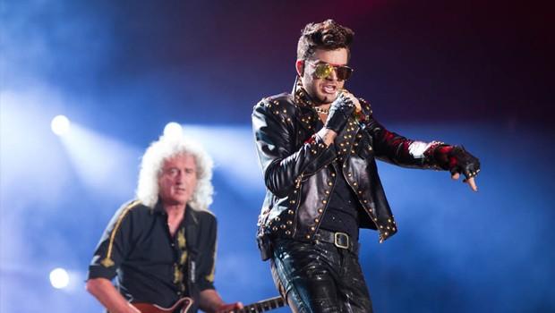 Adam Lambert e Queen (Foto: Andr Bittencourt)