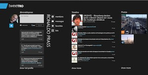 Cliente de Twitter desenvolvido para o Windows 8 (Foto: Reprodução)