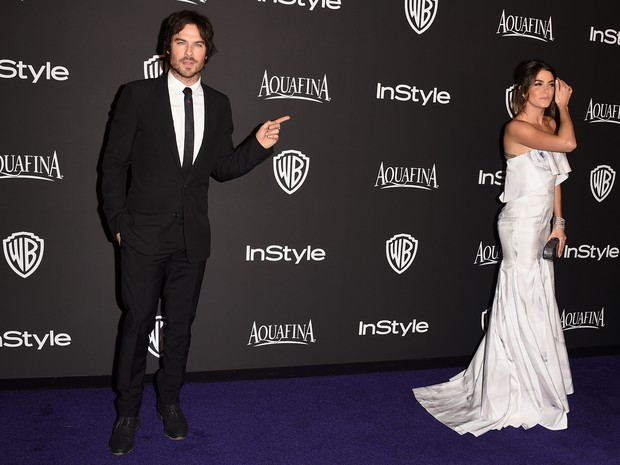 Ian Somerhalder e Nikki Reed em festa em Los Angeles, nos Estados Unidos (Foto: Jason Merritt/ Getty Images/ AFP)