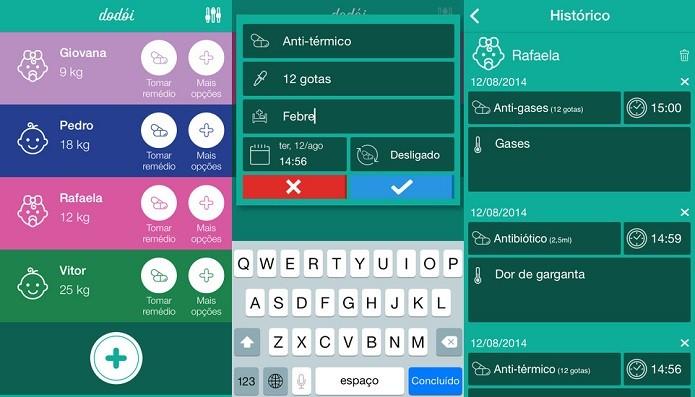Controle os horários e aplicações de medicamentos com Dodói (Foto: Divulgação/AppStore)