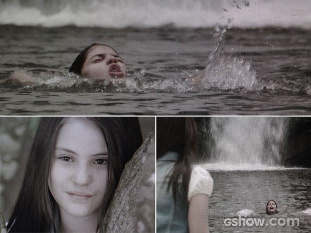 Shirley vê Helena se afogar e não faz nada (Foto: Em Família / TV Globo)