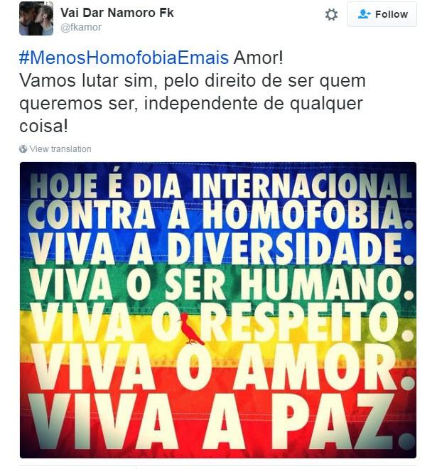 Dia Contra a Homofobia 5 (Foto: Reprodução/Twitter)