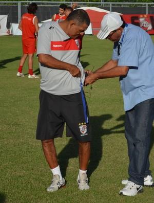 Edmilson Santos, técnico do River Plate (Foto: João Áquila / GLOBOESPORTE.COM)