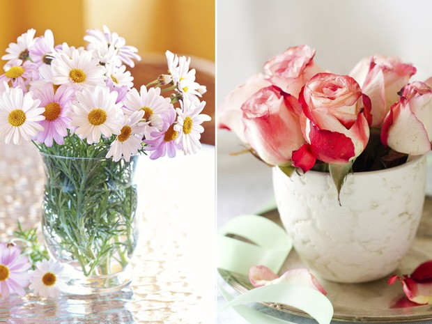 Flores na decorao: margaridas e rosas (Foto: Getty Images)