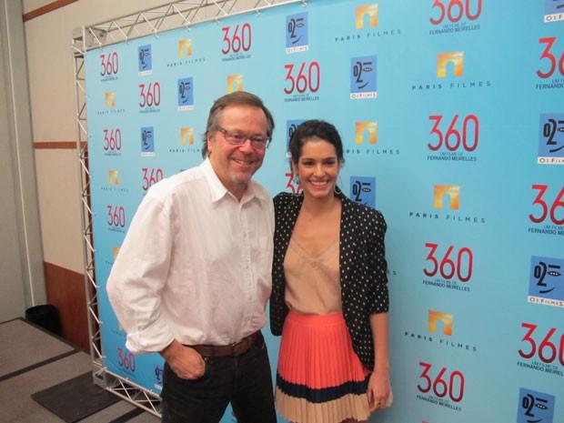 Fernando Meirelles e Maria Flor durante entrevista coletiva em São Paulo para divulgar o filme '360' (Foto: Cauê Muraro/G1)