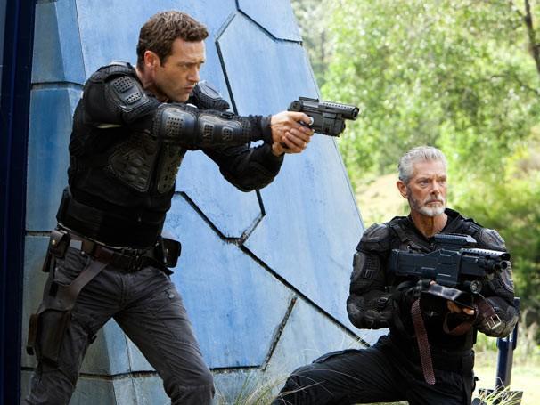 Jim e Taylor se preparam para enfrentar uma guerra (Foto: Divulgação / Twentieth Century Fox)