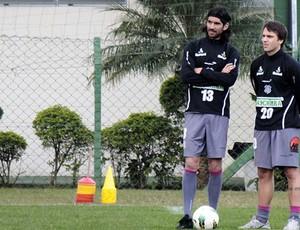 Loco Abreu, no treino do Figueirense (Foto: Luiz Henrique, divulgação / FFC)