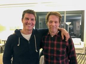 Tom Cruise e Jerry Bruckheimer (Foto: Reprodução/Twitter)