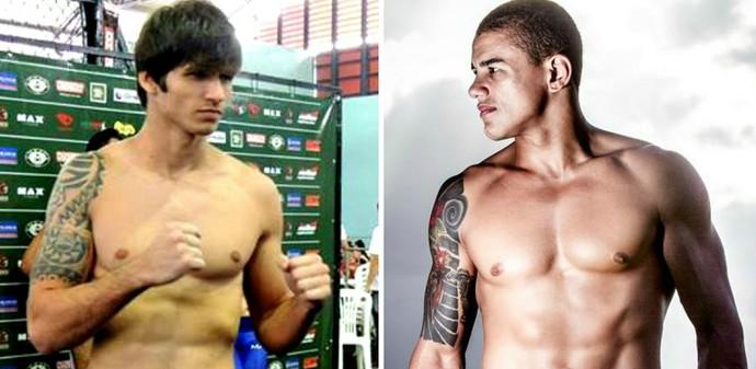Matheus Barbosa encara Anderson Biscoito na luta principal do Sama Fight Combat 2 (Foto: Montagem sobre fotos de arquivo pessoal)