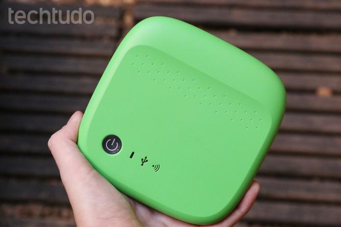 Seagate Wireless permite enviar arquivos pelo celular via Wi-Fi (Foto: Luciana Maline/TechTudo)