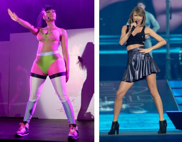 As cantoras Nicki Minaj e Taylor Swift (Foto: Getty Images)