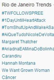 Trending Topics no Rio às 17h10 (Foto: Reprodução/Twitter.com)