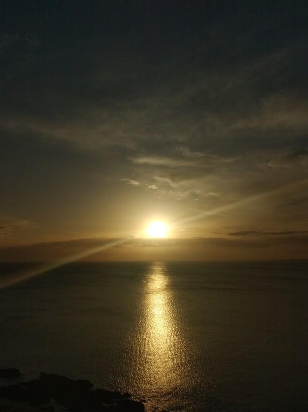 Pôr do sol em Punta Del Este (Foto: Marina Bonini)