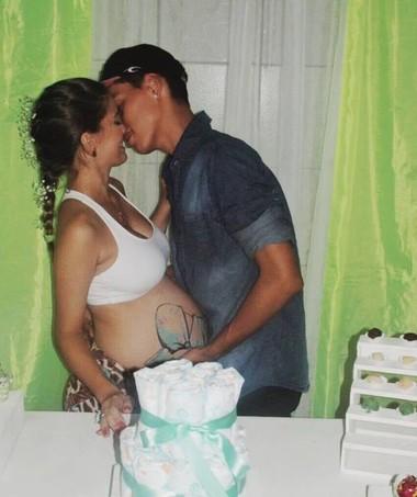 O casal queria mostrar que gravidez não é doença (Foto: Arquivo pessoal)
