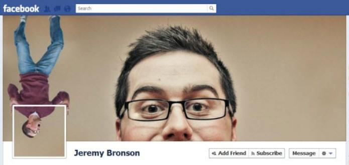 Interação criativa entre foto de perfil e foto de capa (Foto: Reprodução/Hongkiat)