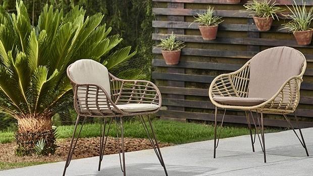 Lindas e delicadas, a cadeira e a poltrona Apu, do Estdio Lider de Design, resistem ao tempo, graas  sua estrutura e ao tecido especial para reas externas. (Foto: Divulgao/Lder)
