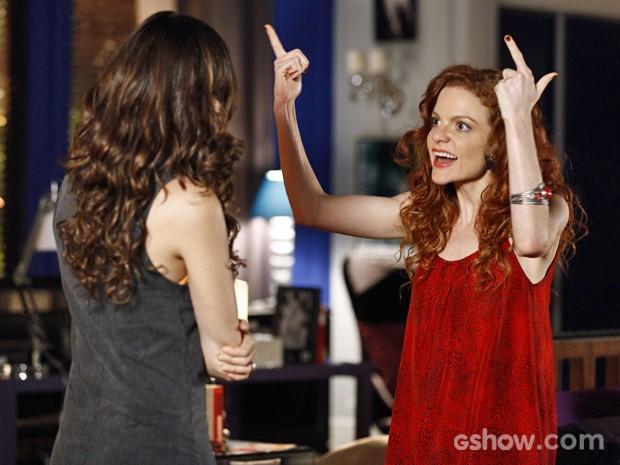 Vanessa se exalta em briga com Marina (Foto: Inácio Moraes/ TV Globo)