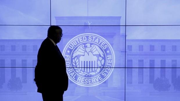 Logo do Federal Reserve em Washington, D.C., nos Estados Unidos (Foto: Kevin Lamarque/Reuters)