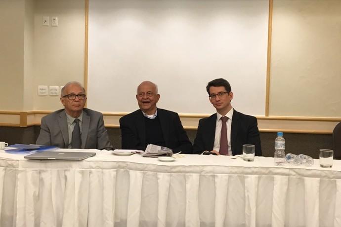 Luís Soares, Coaracy Nunes e Marcelo Franklin na assembleia da CBDA (Foto: Divulgação)