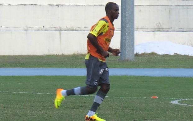 Hyuri treino Botafogo (Foto: Thales Soares)