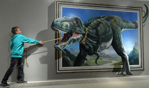 Exposição Du bist die Kunst! é realizada na cidade de Augustusburg, na Alemanha (Foto: Hendrik Schmidt/AFP)