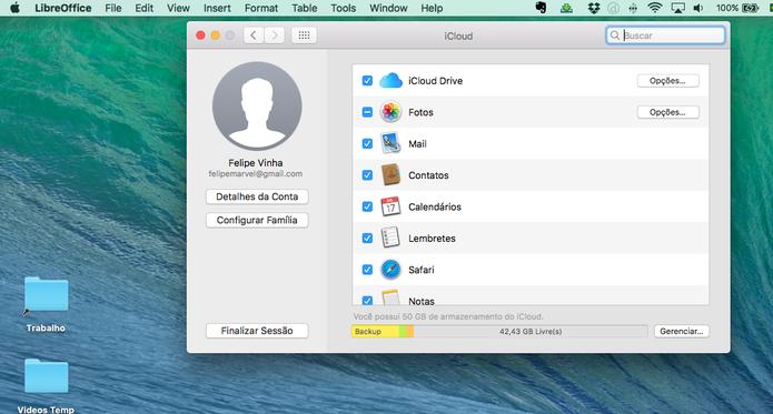 iCloud Drive pode ser administrado no Mac (Foto: Reprodução/Felipe Vinha)