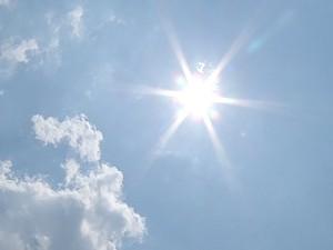 Céu de Corumbá no fim da manhã de quarta-feira (19) (Foto: Reprodução/ TV Morena)