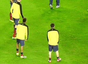 gramado Camp Nou treino Barcelona (Foto: Claudia Garcia)