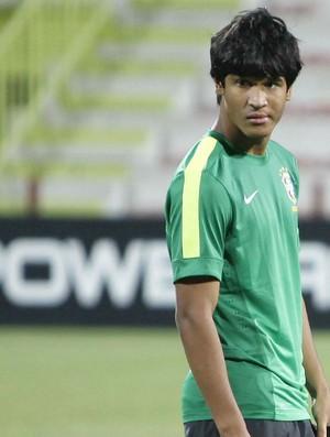 Matheus Índio, na seleção brasileira sub-17, nos Emirdos Árabes (Foto: Rafael Ribeiro / CBF)