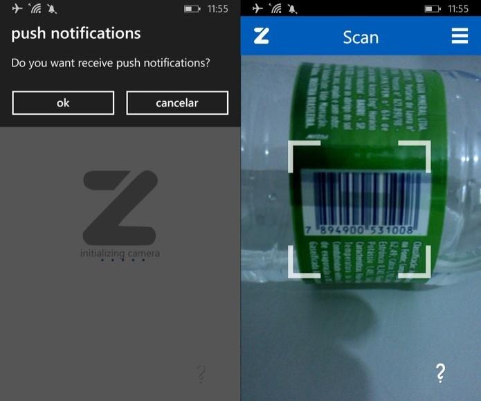 Escaneando código de barras (Foto: Reprodução/Helito Bijora)