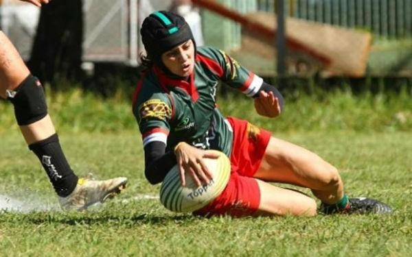 Equipe feminina do Desterro Rugby (Foto:  Luiz Pires / Fotojump)