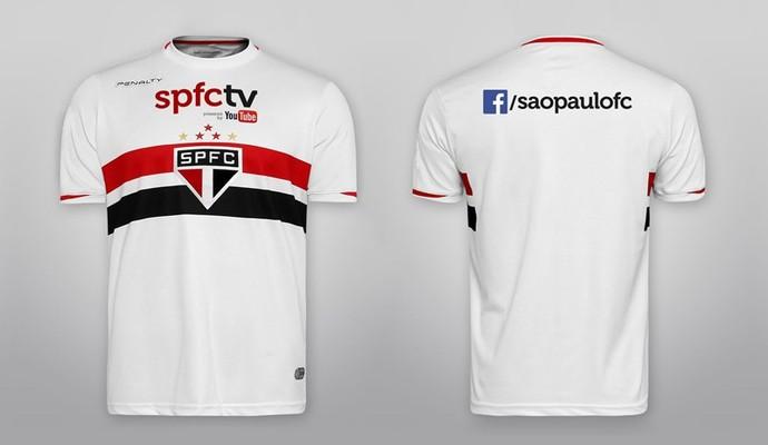 8d1120c56a Nova camisa São Paulo (Foto  Site oficial SPFC)