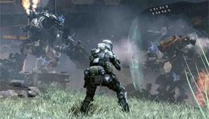 Piloto assiste a confronto de Titans em 'Titanfall' (Foto: Divulgação/Electronic Arts)