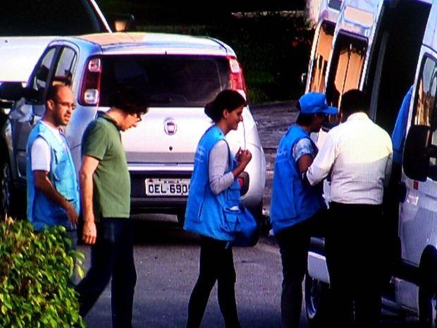 Equipe da ONU dentro do Copemcan  (Foto: Reprodução / TV Sergipe)