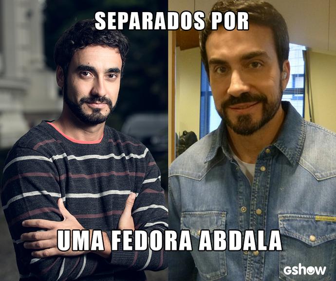 Gabriel Godoy se diverte com semelhança com o Padre Fábio de Melo (Foto: TV Globo)