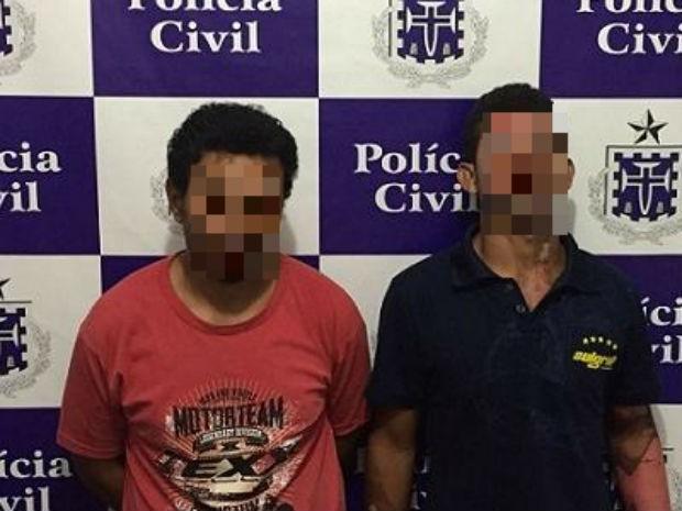 Girleno (à esquerda) e Jackson confessaram crime na Bahia (Foto: Divulgação/Polícia Civil)