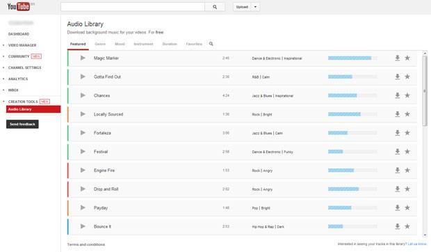 Usuários podem usar e baixar músicas grátis no YouTube (Foto: Reprodução/YouTube)
