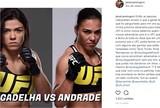 """Jéssica Bate-Estaca aceita lutar contra Cláudia Gadelha: """"Daríamos um show"""""""