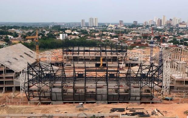 Obras Arena Pantanal copa do mundo 2014 (Foto: Arena)