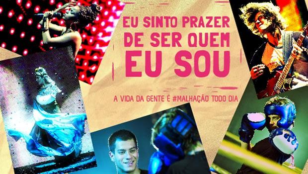 Malhação: crie 'covers' e selos para redes sociais (Globo)