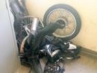 Guarda de Piracicaba apreende moto desmontada em caçamba de veículo