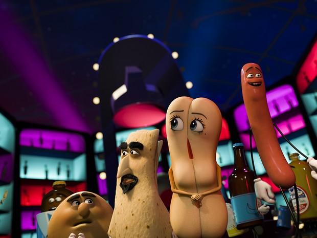 Balada no corredor de bebidas da animação 'Festa da salsicha' (Foto: Divulgação)