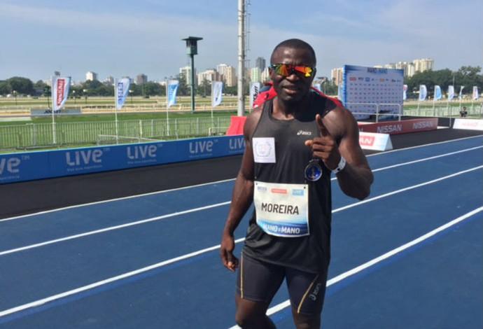 Codó vence eliminatória masculina e correrá com Bolt (Foto: Amanda Kestelman)