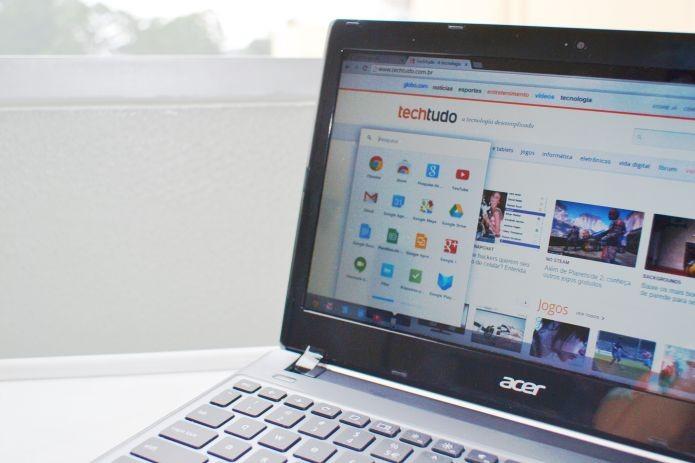 Browser é o seu sistema, pelo menos no Google Chrome OS (Foto: Andréa Lagareiro) (Foto: Browser é o seu sistema, pelo menos no Google Chrome OS (Foto: Andréa Lagareiro))