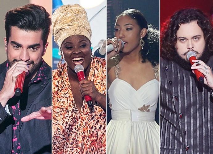 Algumas das vozes que protagonizaram a estreia dos Shows ao Vivo  (Foto: Isabella Pinheiro/Gshow)